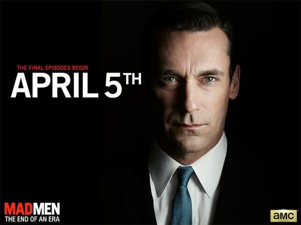 La fin de la série Mad Men sera diffusée à partir du 5 avril