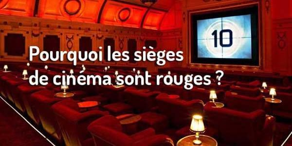 Pourquoi les fauteuils de cin ma sont rouges - Sieges de cinema occasion ...